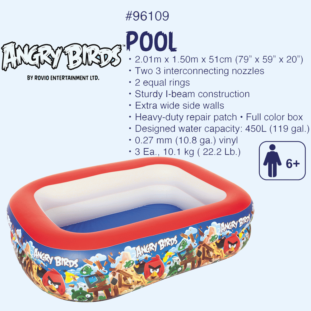 angry birds children's pool