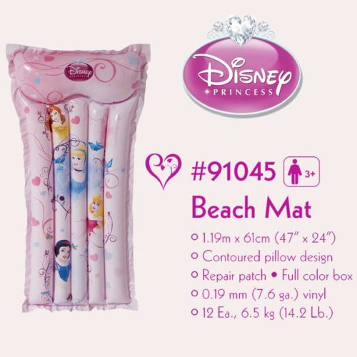 princess inflatable mat with info